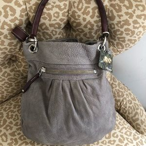 ROOTS Olivia Bag in Grey (Pebble). NWT